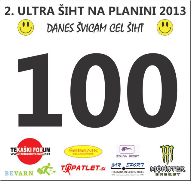Bib number for 2nd Ultra Workday at Planina